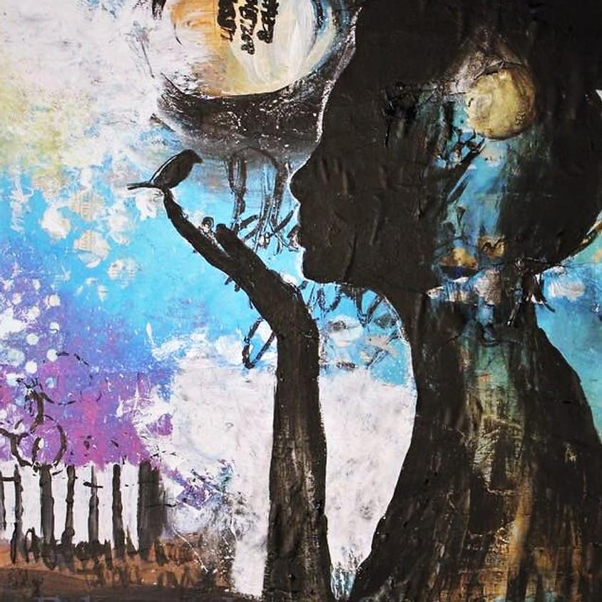 "Paint & Sip at Hinterland Winery ""Little Bird"" Mixed Media Painting"