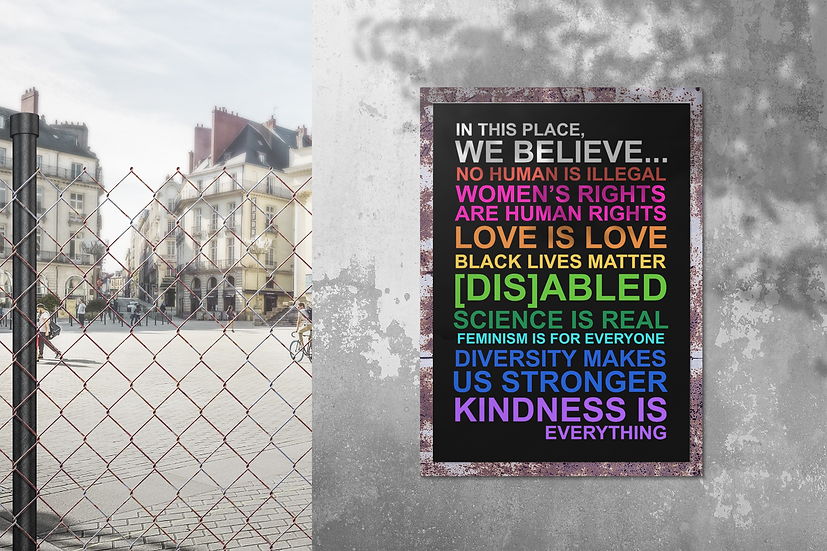 """""""In this Place We Believe"""" Yard Sign"""