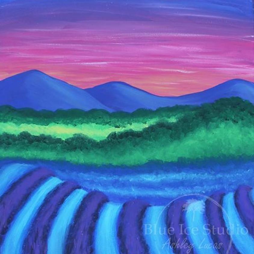 "Kid's Cookies & Canvas ""Lavender Fields"""