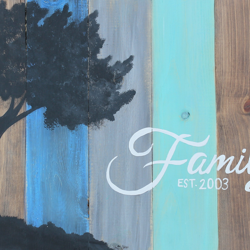 """Pallet Painting """"Family Tree"""""""