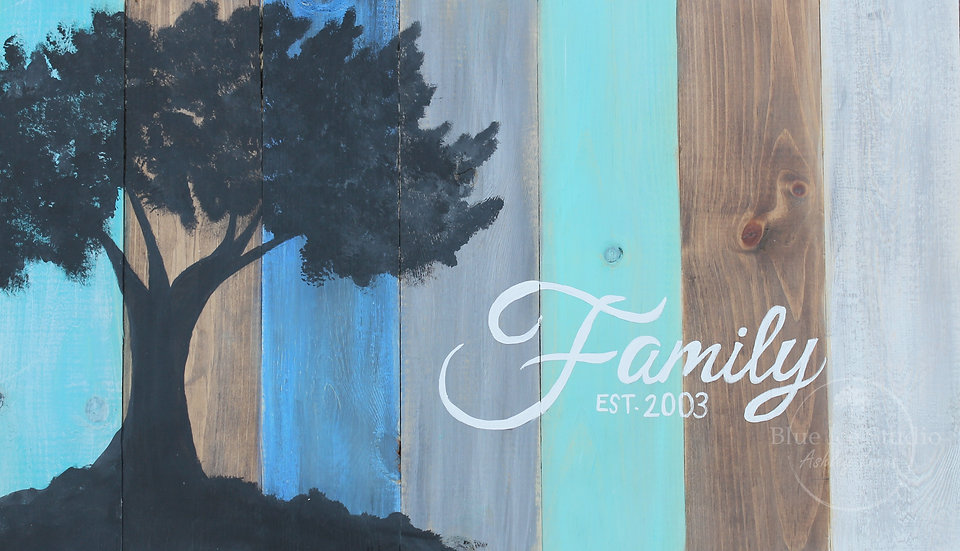 "Take & Paint Home Art Kit: ""Family Tree"" Pallet Sign"