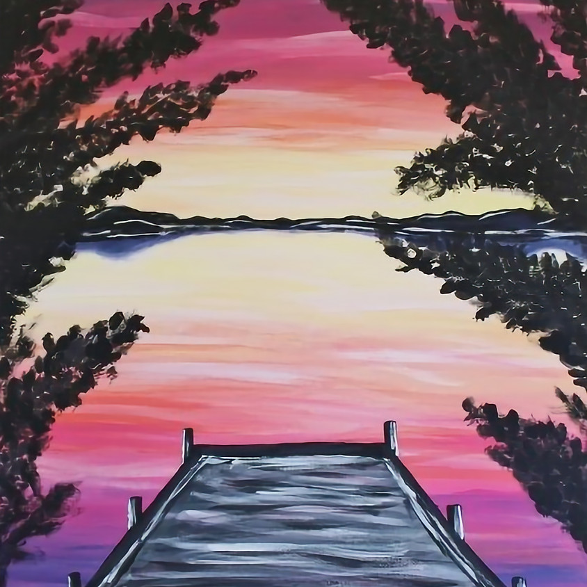 "Cookies, Coffee & Canvas ""Lakeside Dock"""