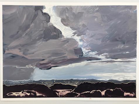 Rain Cloud, oil on paper A3