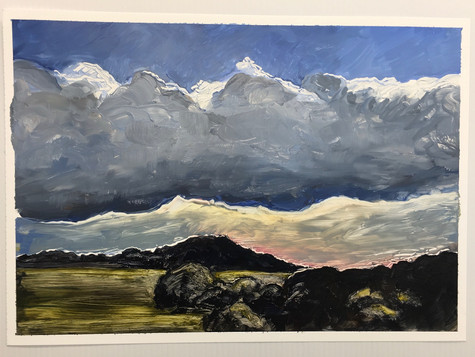 Cloud Over Killarney, oil on paper A3