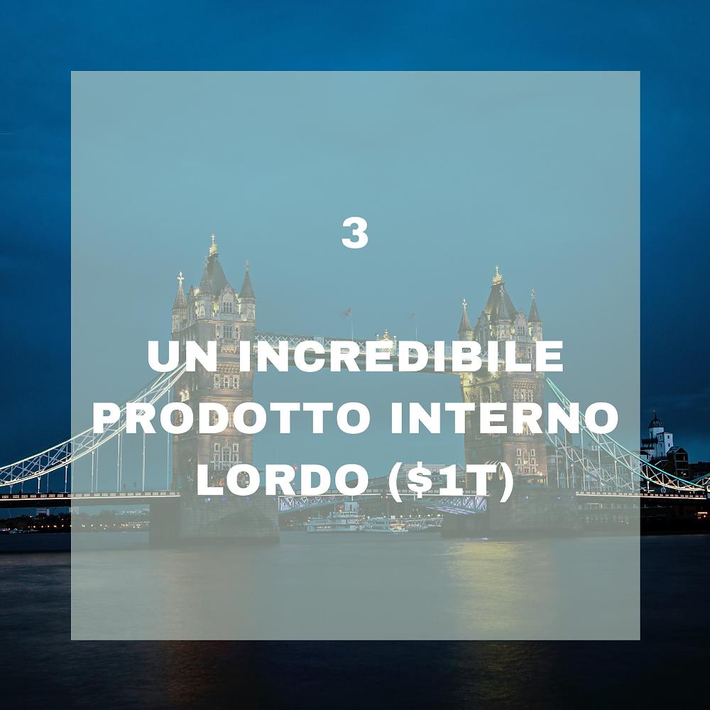 La rilevanza economica della città di Londra
