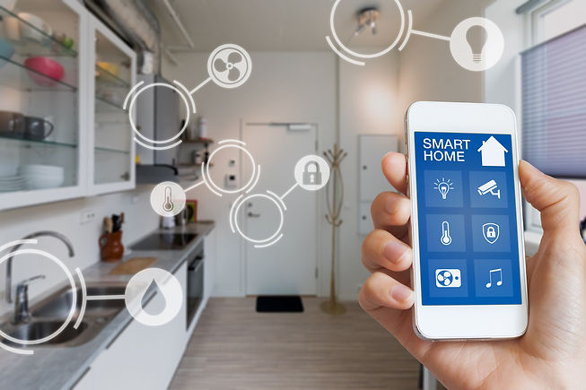 Smart home technology interface on smart