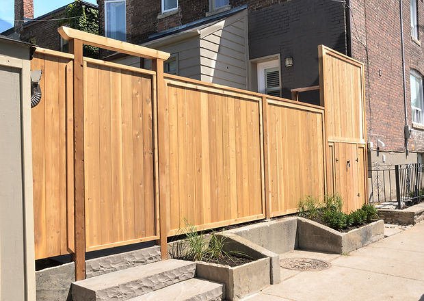Newly constructed wooden fence.jpg