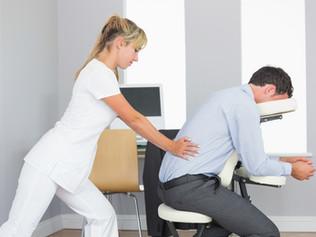 ¿Qué sucede en un masaje de silla?