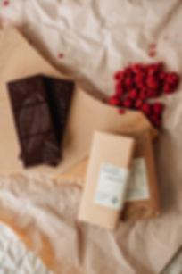 Planet Cocoa Raspberry vegan chocolate block