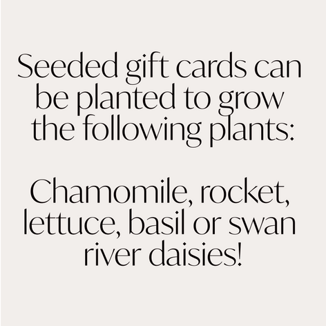 Planet Cocoa Plantable Gift Tag
