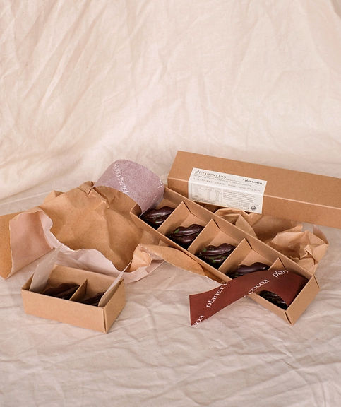 Planet Cocoa vegan chocolates crafted in Melbourne, ganache filled kisses eco-friendly gift packaging