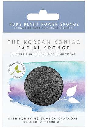 Konjac Sponge Co Facial Puff Sponge - Bamboo Charcoal
