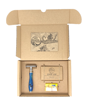 Naked Necessities Shave Kit - Ocean Blue
