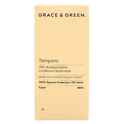 Grace & Green Applicator Tampons - Super