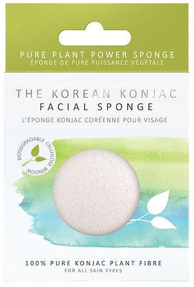 Konjac Sponge Co Facial Puff Sponge - Pure Konjac