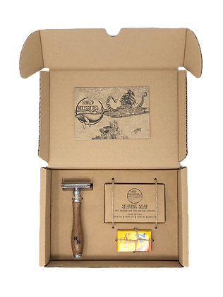 Naked Necessities Shave Kit - Brown