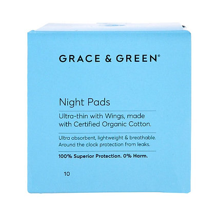 Grace & Green Menstrual Pads - Night