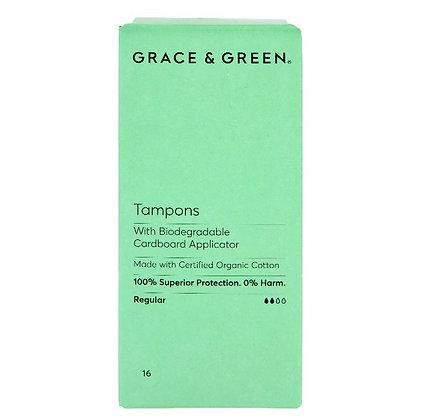Grace & Green Applicator Tampons - Regular
