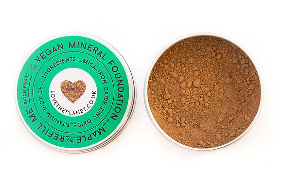 Love The Planet Mineral Foundation - Maple