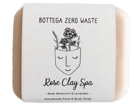 Bottega Zero Waste Soap - Rose Clay Spa