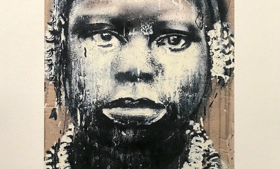"""Digigraphie """"Portrait Bantu"""""""