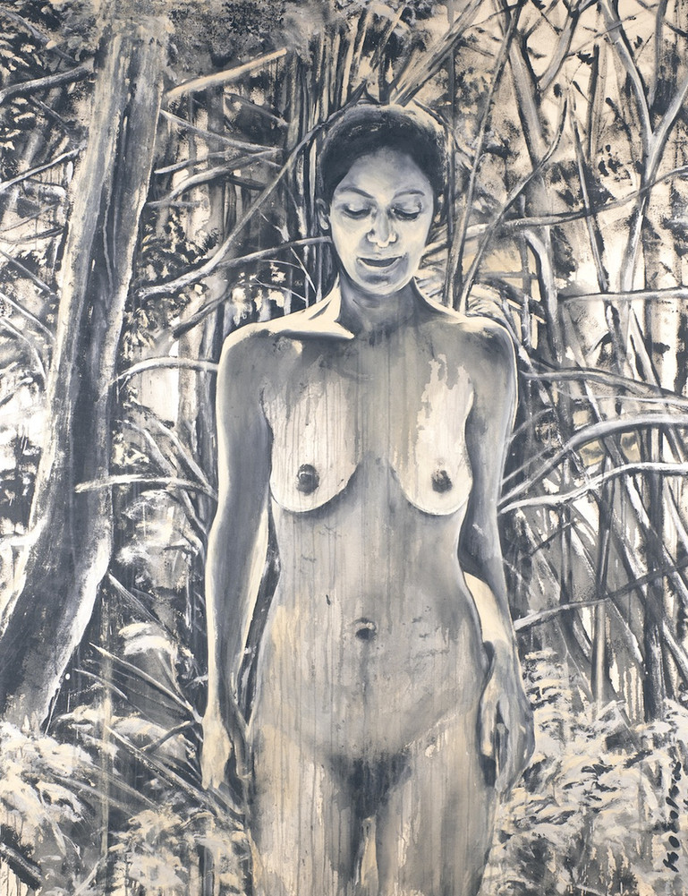 """""""Femme métisse nue dans la forêt 2"""""""