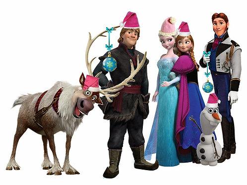 Frozen Holiday Celebration Siblings