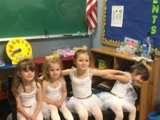 Preschool performance backstage