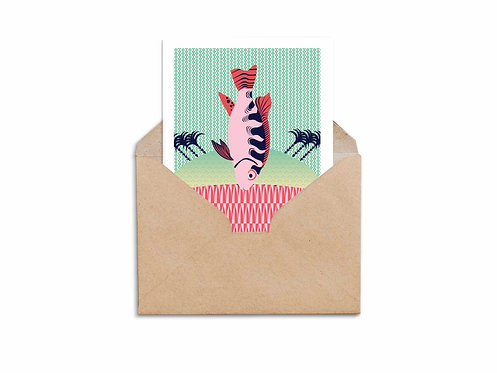 Shana Tova Postcard - Fish