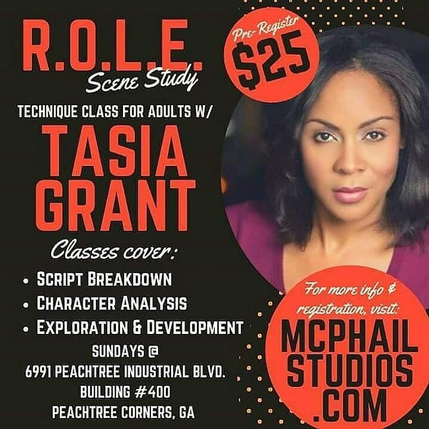 R.O.L.E. Scene Study Technique Class for Adults (17+) w/ Tasia Grant (21)