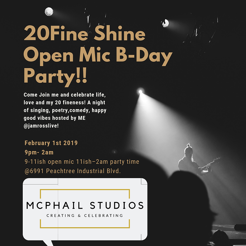 20Fine Shine Open Mic B-Day Party