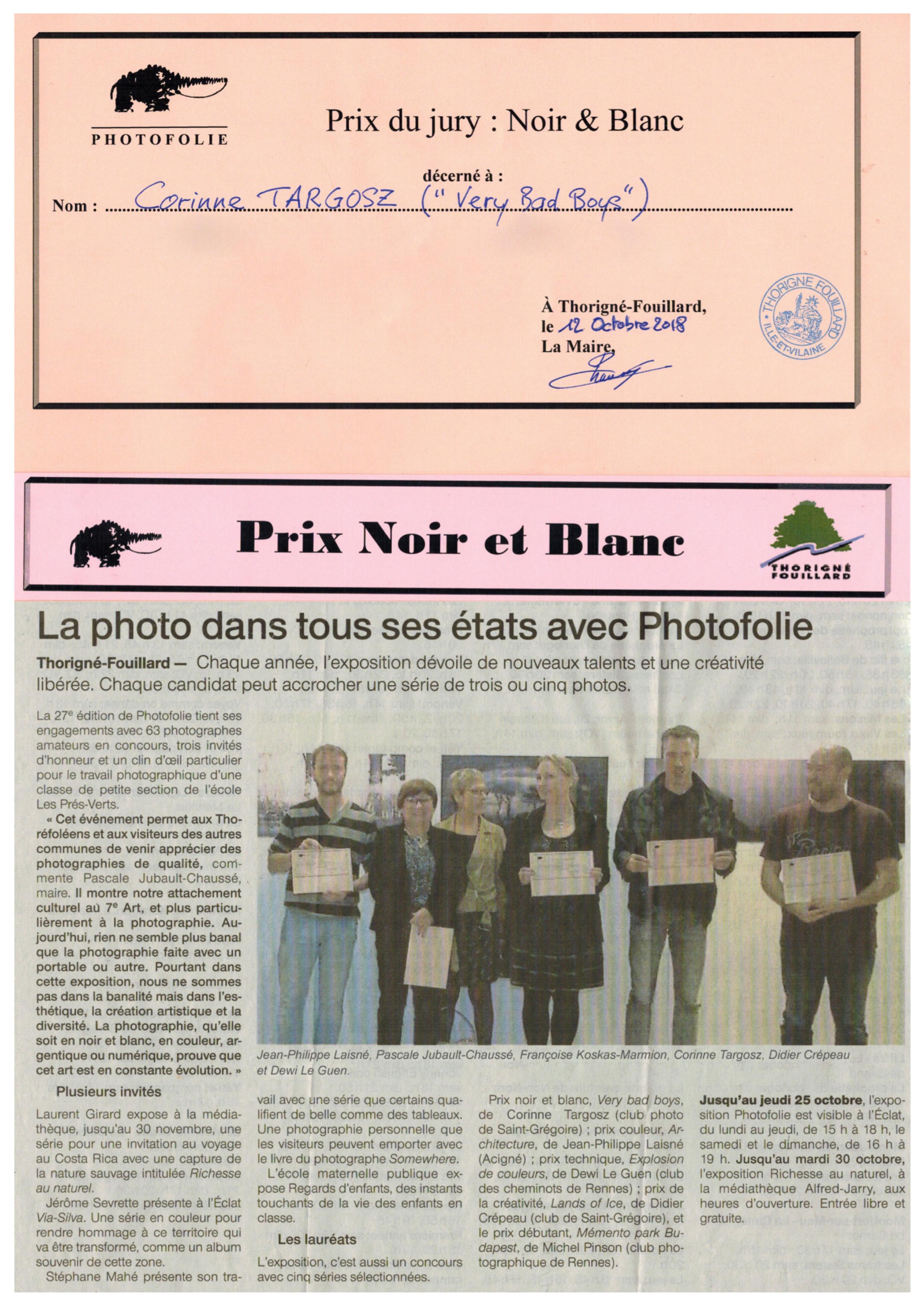 1er Prix Noir & Blanc