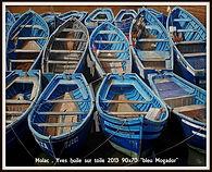 YVES MOLAC - bleu Mogador - 2013 - 90x70