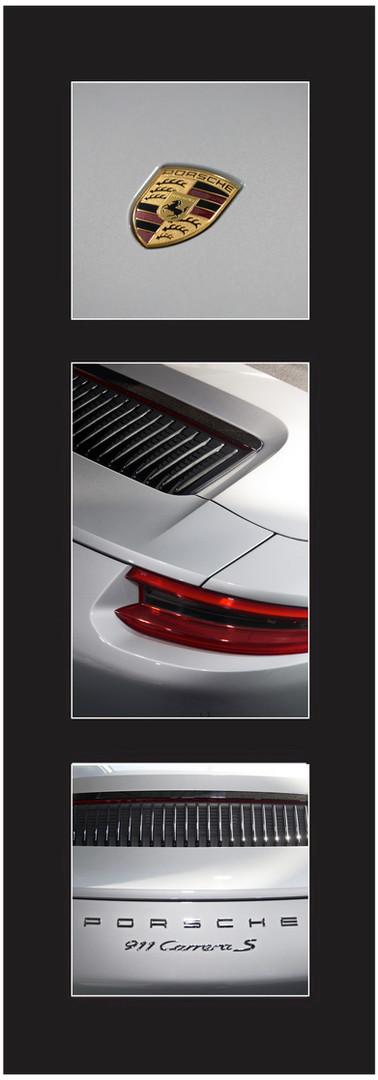 Triptique Gris Porsche 911 S
