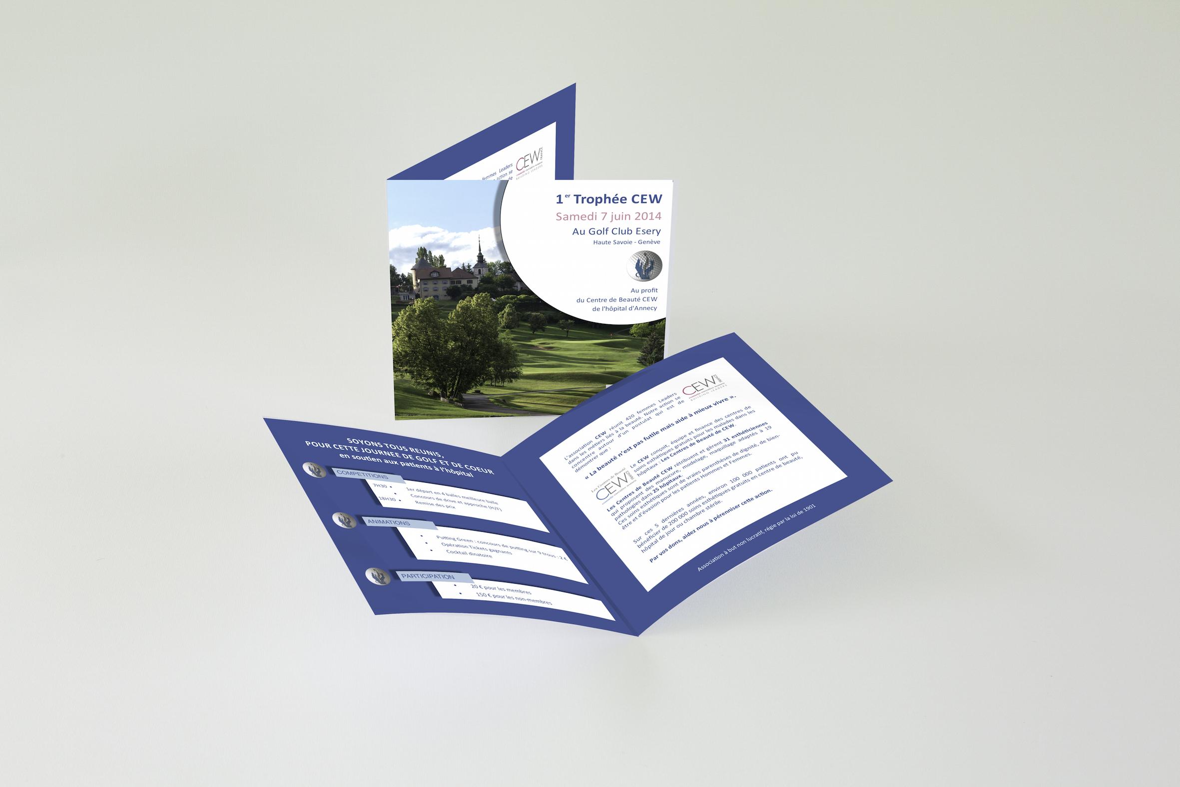 Plaquette Compétition Golf CEW