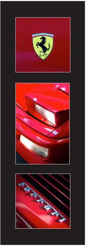 Triptique Rouge Ferrari