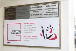 Panneau orientation Office du Carré