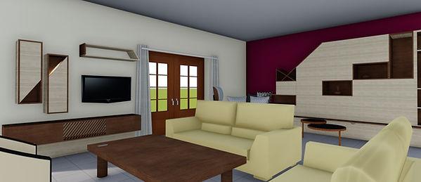 renovation d'un séjour By Saskia décorat