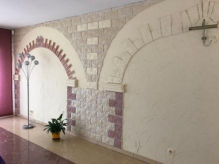Avant renovation mur recouvert de parements By saskia