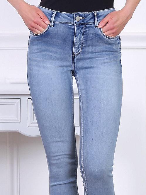 TOXIK high waist jogg jeans mid blue