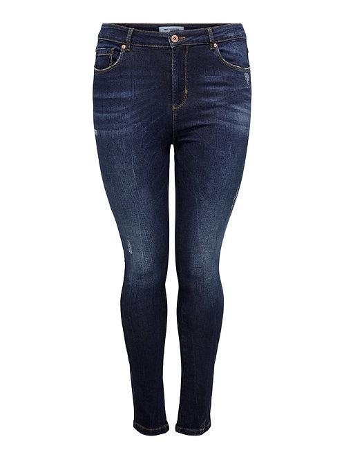 ONLY high waist skinny jeans dark blue denim
