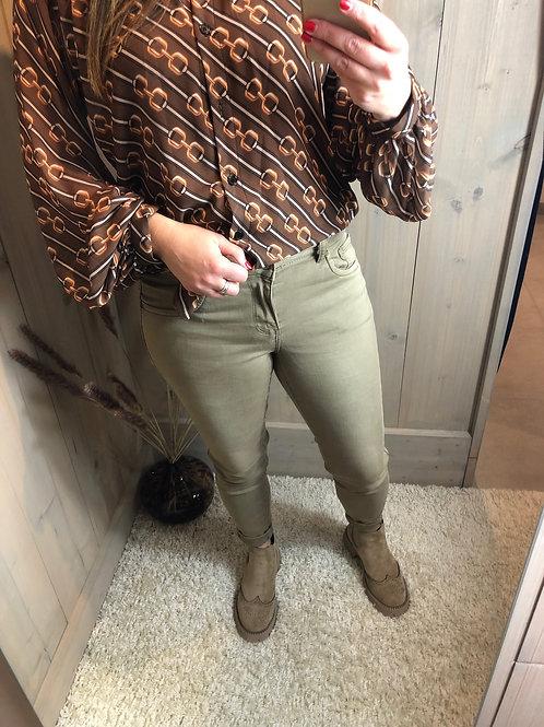 TOXIK push up regular jeans dark beige