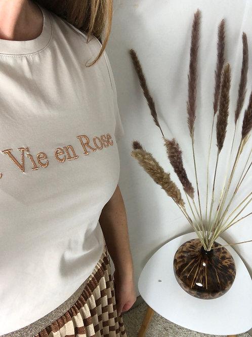 T-shirt La vie en rose