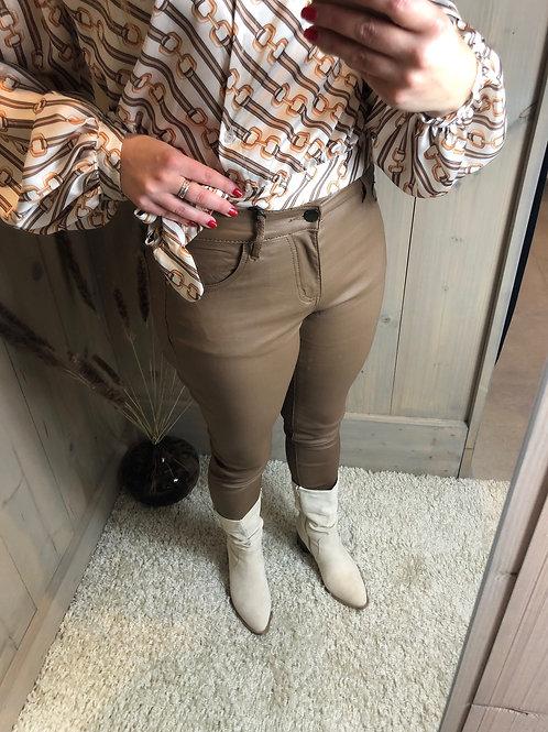 Lederlook high waist broek Zac & Zoë