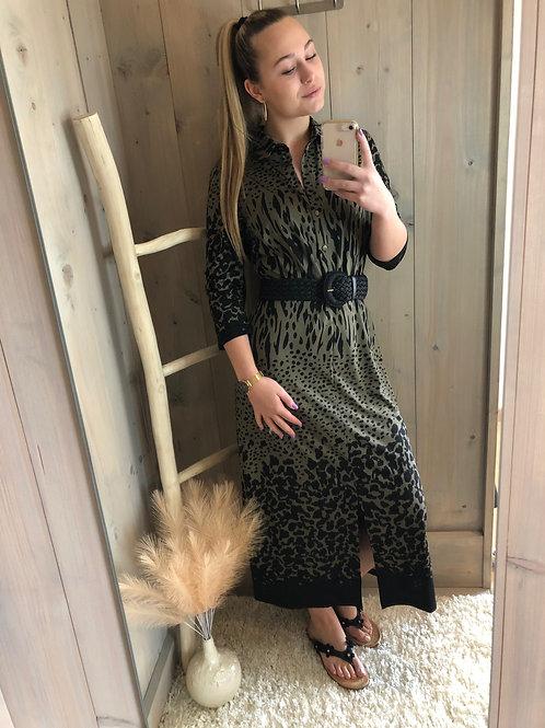 Maxi jurk K DESIGN Olive