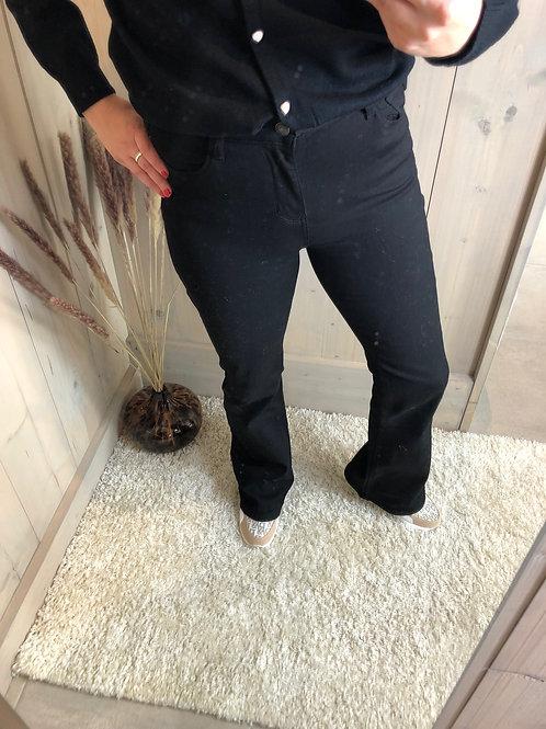 Black high waist flared Rica jeans