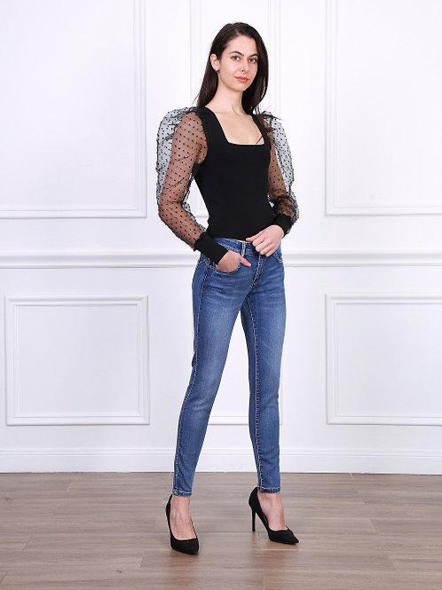 TOXIK Regular waist skinny dark blue