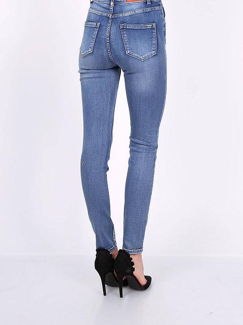 TOXIK high waist skinny mid jeans