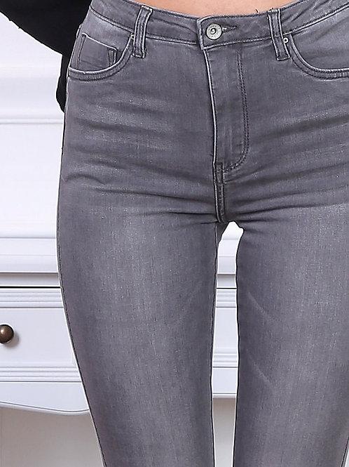 TOXIK high waist dark grey skinny jeans