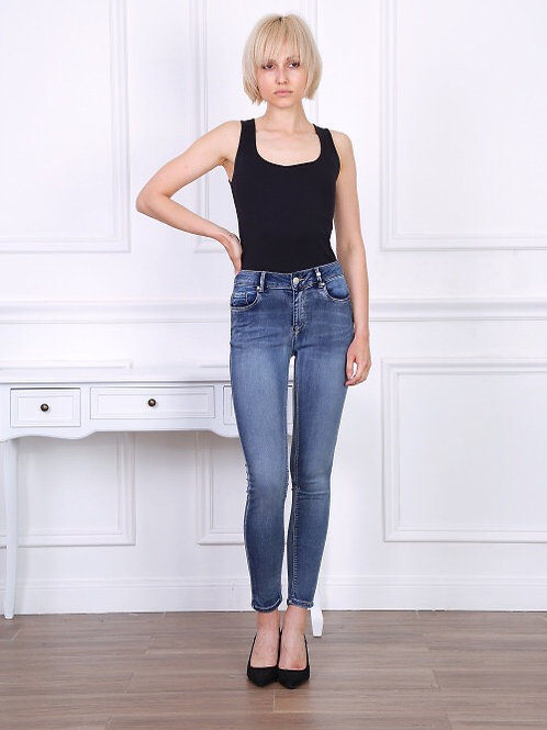 TOXIK high waist dark jogg jeans